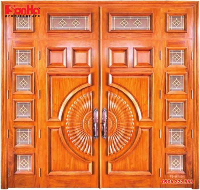 kích thước cửa đi 4 cánh gỗ