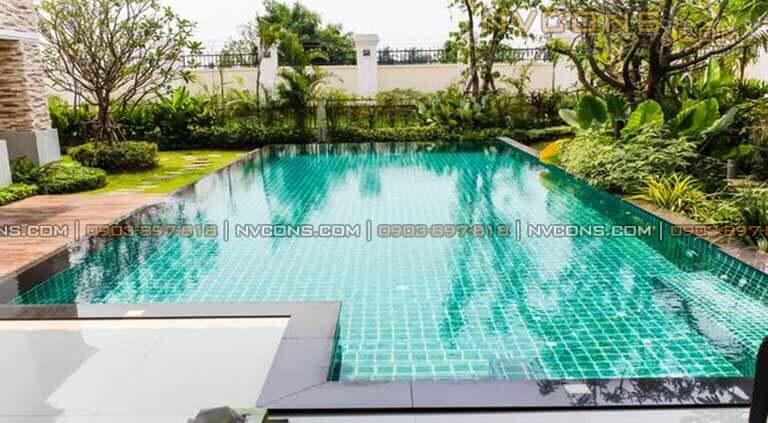 Xây dựng bể bơi mini đẹp, Chi phí thiết kế xây dựng bể bơi mini gia đình