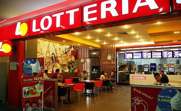 màu sơn nhà hàng Lotteria